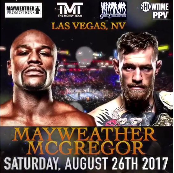 Mayweather VS McGregor - online sports betting sites